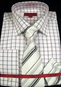 Black Shirt Tie and Hankie Set