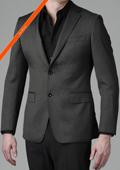 Gray Multi Stripe 2-Button