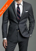 European Slim Fitted Charcoal Gray ~ Grey Suit In 2-Button Pick Stitched Lapel wool Italian Made $199