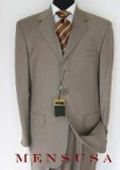 SKU FK3 Genevie Light Weight OliveBrown Exclusive Color Taup 3 Button Super 150s Wool