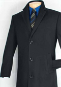 Mens Car Coat Collection in a Soft Cashmere Blend - Black $199