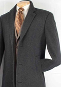 Mens Car Coat Collection in a Soft Cashmere Blend - Charcoal Grey $199
