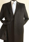 Mens 3/4 Length Car Coat in Cashmere Feel Charcoal $199