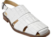 Genuine Lizard Patchwork Sandal