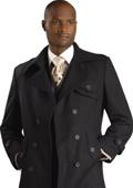 SKU#TB8222 Mens Stylish Overcoat Black $125