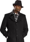 SKU#IK6432 Mens Black Stylish Overcoat $125