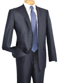 Single Breasted 2 Button Peak Lapel Pointed English Style Lapel Slim Suit Navy $185