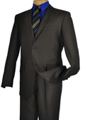 Mens Black Single Breasted 2 Button Peak Lapel Pointed English Style Lapel Slim Suit $185