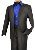 Mens Single Breasted Black 2 Button Peak Lapel Pointed English Style Lapel Slim Suit $185