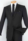 Tapered Leg Lower rise Pants & Get skinny Mens Single Breasted 2 Button Peak Lapel Slim Fit Suit Black $125