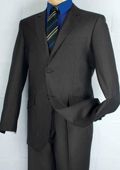 Single Breasted 2 Button Peak Lapel Suit Black $139