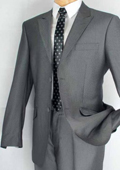 Single Breasted 2 Button Peak Lapel Suit Grey $139