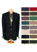 Mens 2 Button Front 4 on Sleeves Fully Lined Metal Buttons Blazer All Colors $149
