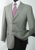 SKU#LW2111 Mens Luxurious Wool And Silk Blazer Grey Shark Skin $139