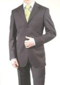 SKU PJP846 Charcoal GrayBlack 3 Button Super 150s Wool  Cashmere Suit 199