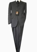 SKU#GU 2356 Fitted Tailored Slim Cut 2 Button Dark Taupe Teakweave Men's Suit $139