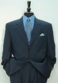 Luxeriouse High End UMO Collezion 3-Button Super 150 Wool Solid Navy Blue Italian Suit $295