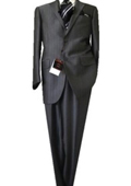 Fitted Discounted Sale Slim Cut 2 Button Gray Herringbone Men's Suit