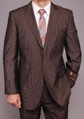 Men's Brown Micro-stripe 2-button Suit $149
