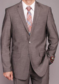 Gray patterned 2-button Slim-fit