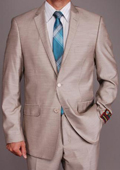 Pearl Grey Sharkskin 2-button