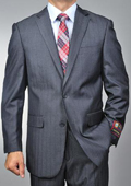 Men's Grey Herringbone 2-button Suit