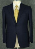 SKU DCN348 Loriano Mens 2 Button Darkest Navy Blue Super  Wool Suit 139