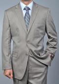 Men's Sand Twill-pattern 2-button Khaki Suit $139