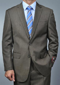 SKU#DV1859 Men's Taupe 2-buttton Suit