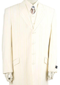 Mens Urban Styled Suit with Full Length Jacket Ivory 45'' Long Jacket EXTRA LONG JACKET Maxi Very Long $189
