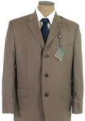 SKU KU3 OliveTaupBrown Three Buttons Super 120s Wool Business Conservative Suits 149