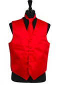 Vest Tie Set Red $39