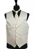 SKU#VS1034 Vest Tie Set Ivory
