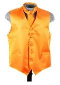 SKU#VS6279 Vest Tie Set Orange $49