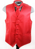 Vest Tie Set Red $49