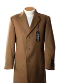Cashmere Wool Topcoat Tan