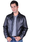 Mens Leather Jacket Black $199