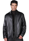 SKU#GM5897 Mens Leather Jacket Black $199