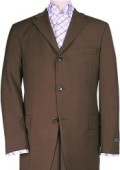 SKU ZXV2 Chocolate Brown Solid Brown Italian Super 150s Wool Suits 199