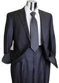 Charcoal Window Pane Style Mens Designer Suit Charcoal $175
