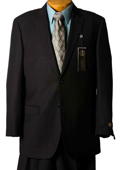 Suit Separate Mens Black Pinstripe Italian Designer Suit Black $239