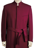Mens Stylish clergy robes Zoot suit Burgundy ~ Wine ~ Maroon ~ Raisin 45'' Long Jacket EXTRA LONG JACKET Maxi Very Long $125