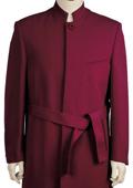 Mens Stylish clergy robes Zoot suit Burgundy ~ Wine ~ Maroon ~ Raisin 45'' Long Jacket EXTRA LONG JACKET Maxi Very Long $125