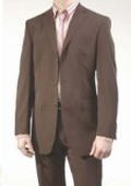 SKU 421 Modern Brown 3 Buttons Super 150s Wool Made in Italy 199