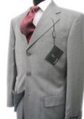 Collezinai MEN SUIT~150'S WOOL~LIGHT GRAY Shark Skin Suit