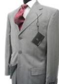 Collezinai MEN SUIT~150'S WOOL~LIGHT GRAY Shark Skin Suit $200