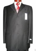 Jet Black Ton On Ton Super 120's Wool & Cashmere premier quality italian fabric Design 3 buttons