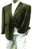 SKU#GY7861 Mens 2 Button Velvet Blazer Brown