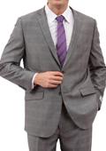Mens Light Grey 2 Button Front Closure Suit $139