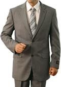 Mens Light Grey 2 Button Front Closure Slim Notch Lapel Suit $139